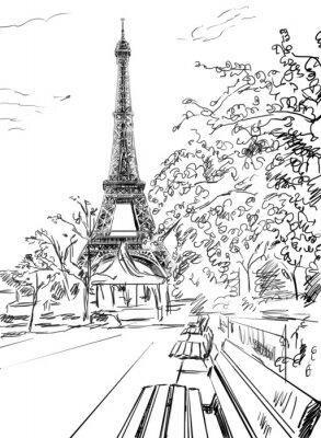 Póster Calle de París.