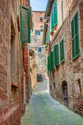 Póster Callejón en el casco antiguo de Toscana Italia
