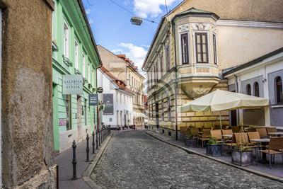 Callejón típico de Ljubljana, Eslovenia.