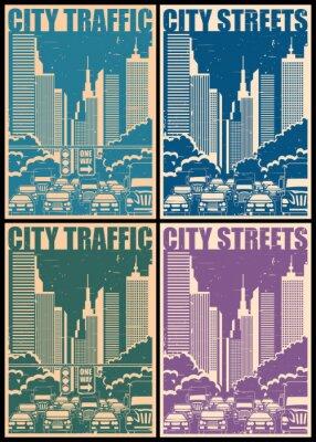 Póster Calles de la ciudad