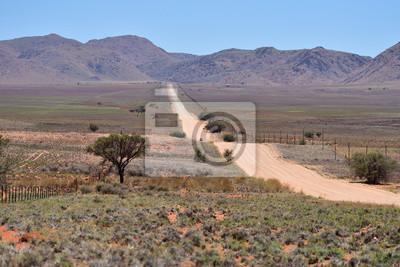 Camino de tierra a las montañas, Namibia, África