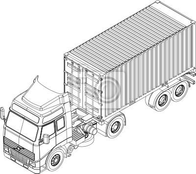 Camión contenedor y remolque