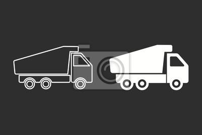 Camión - icono de vector.