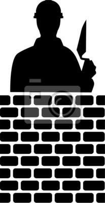 Capa de ladrillo Silueta