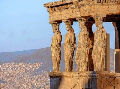 Póster Cariátides, Acrópolis de Atenas