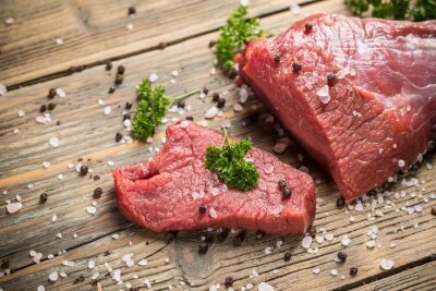 Póster Carne de res cruda