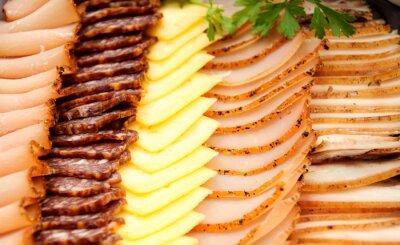 Póster Carnes frías con queso