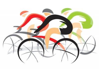 Póster Carrera De Bicicletas