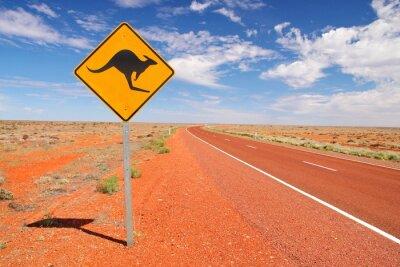 Póster Carreteras interminables australianos