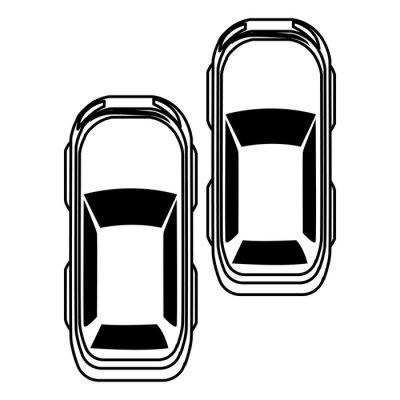 cars transport sedan vehicles cartoon