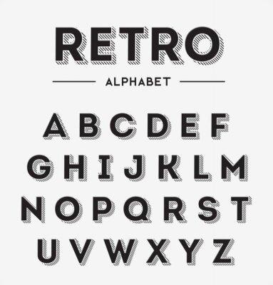 Póster Cartas Retro Gráfico Set