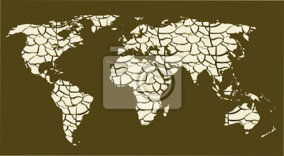 Carte du monde devenu désert ONU
