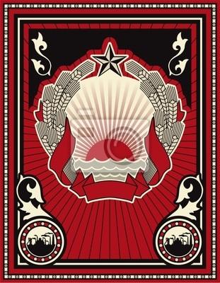 Cartel de estilo soviética