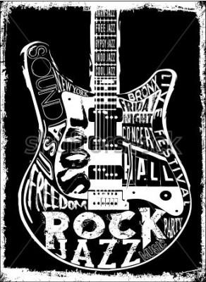 Póster Cartel de Hard Rock Music
