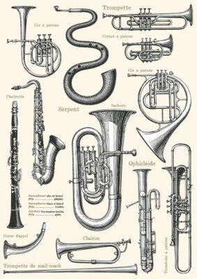 Póster Cartel de la música francés