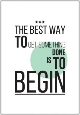 Póster Cartel de motivación simple en el fondo blanco