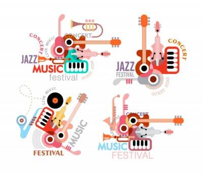 Póster Cartel del festival de música impresiones