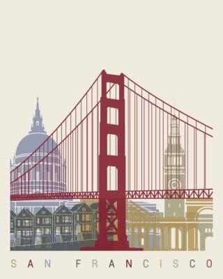 Póster Cartel del horizonte de San Francisco