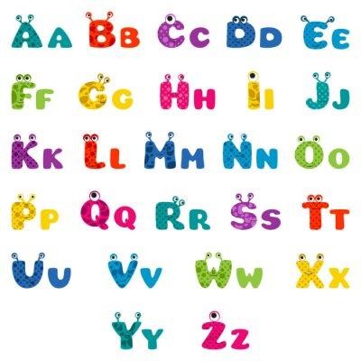 Póster cartoon monster alphabet