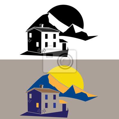 casa de campo en las montañas