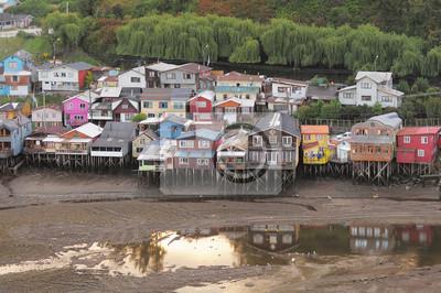 Casas en el agua. Castro.
