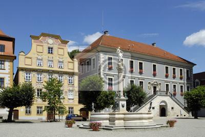 Casas estilográficas Karlsplatz y de la ciudad