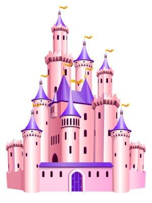 Póster Castillo de la princesa rosa.