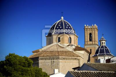 Catedral de Altea ciudad mediterránea, España