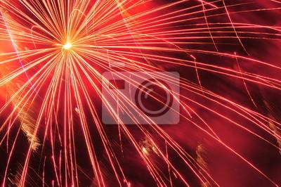 Celebración de fuegos artificiales.