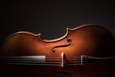 Póster Cello silhouette