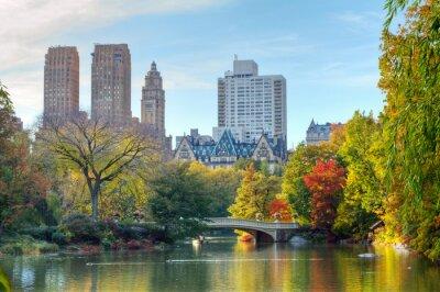 Póster Central Park en otoño