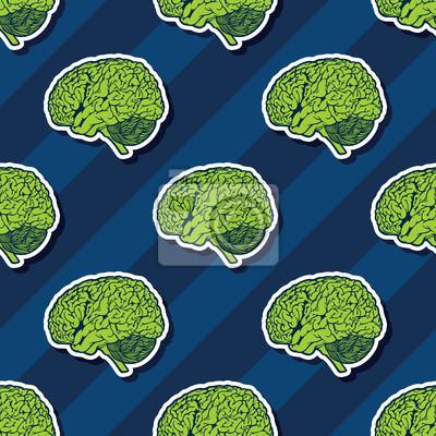 Póster Cerebro Repitiendo el modelo