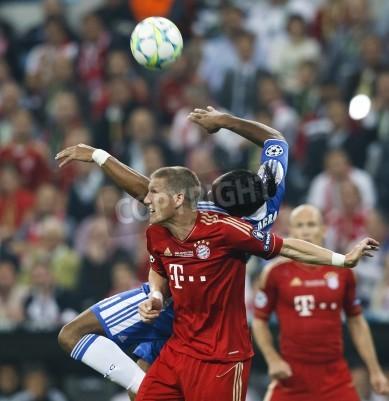 Póster Chelsea FC en la UEFA Champions League final en Allianz Arena el 19 de mayo de 2012 en Munich, Alemania.