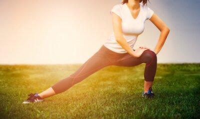 Póster Chica Atleta - ejercicio atleta en el exterior, fitness mujer