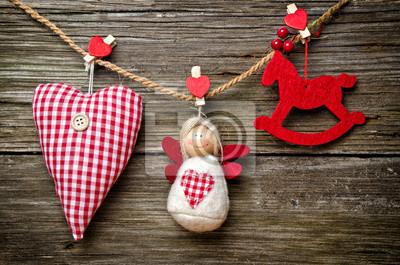 Christams ornamento rojo