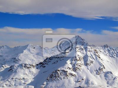 Cielo de invierno en los Alpes