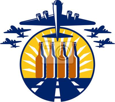 Círculo de la botella de cerveza pesada del bombardero B-17