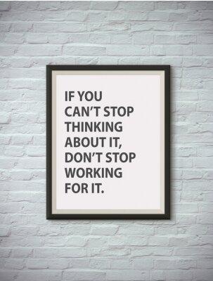 Póster Cita de motivación inspirada en el marco.