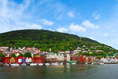 Póster city of Bergen,  Norway