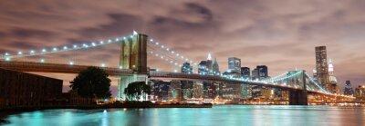 Póster Ciudad de Nueva York panorama