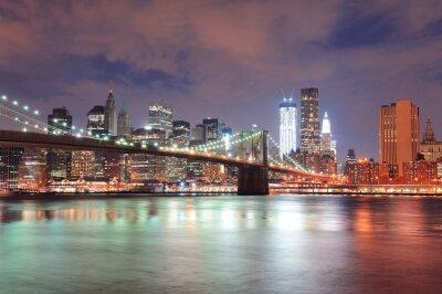 Póster Ciudad de Nueva York Puente de Brooklyn