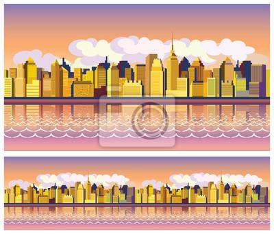 ciudad por la mañana