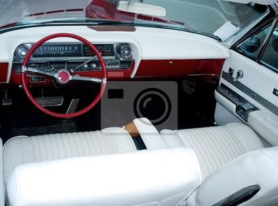 Coche retro clásico interior