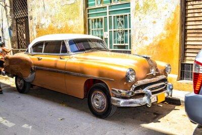 Póster Coches americanos y soviéticos 1950 - 1960 de La Habana.