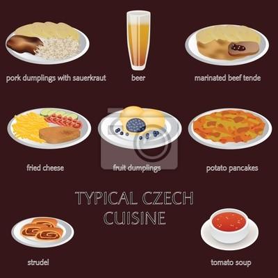 Póster cocina típica checa - pocos comida típica checa