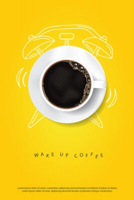 Póster Coffee Poster Advertisement Flayers Vector Illustration