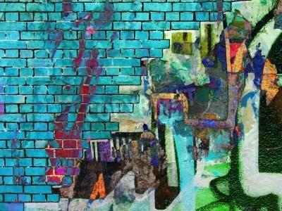 Póster Collage de Graffiti. Textura abstracta
