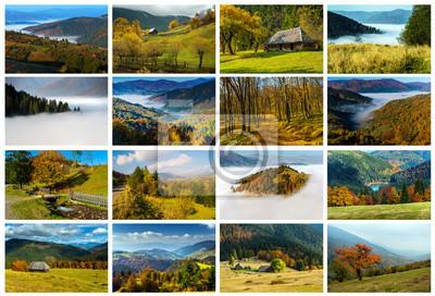 Collage Paisaje de otoño