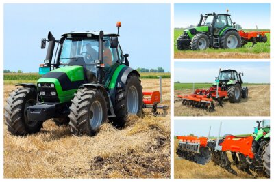 Póster Collage Tractor