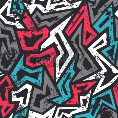 Póster color pintada patrón con efecto grunge